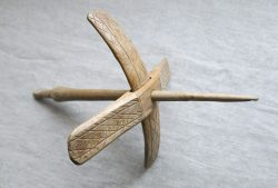 ANATOLIA - Taurus Mountains Turkmen hand carved wooden drop spindle
