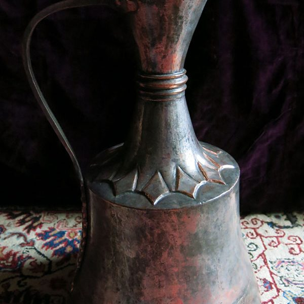SOUTH EASTERN TURKEY – MARDIN antique hand forged copper water jug