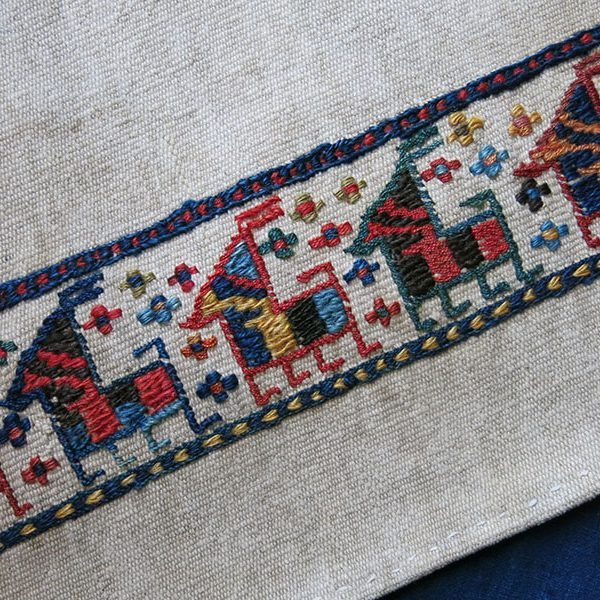 PERSIA – AZERBAIJAN Shahsavan tribal bedding pile cover fragment