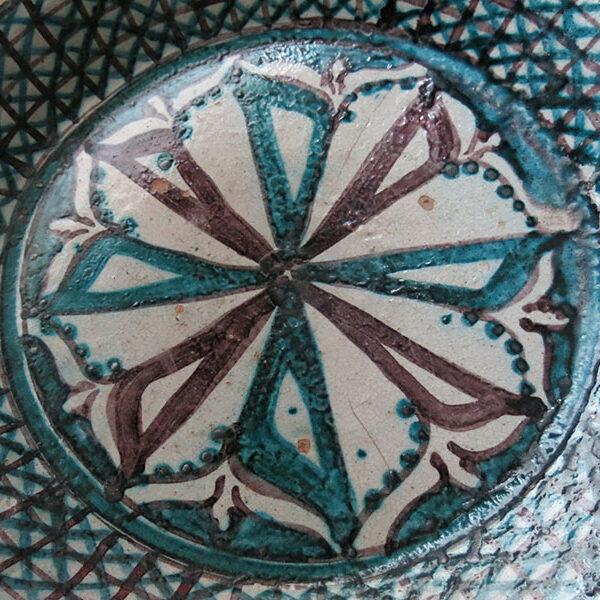 UZBEKISTAN - TASHKENT School large size glazed Ceramic plate