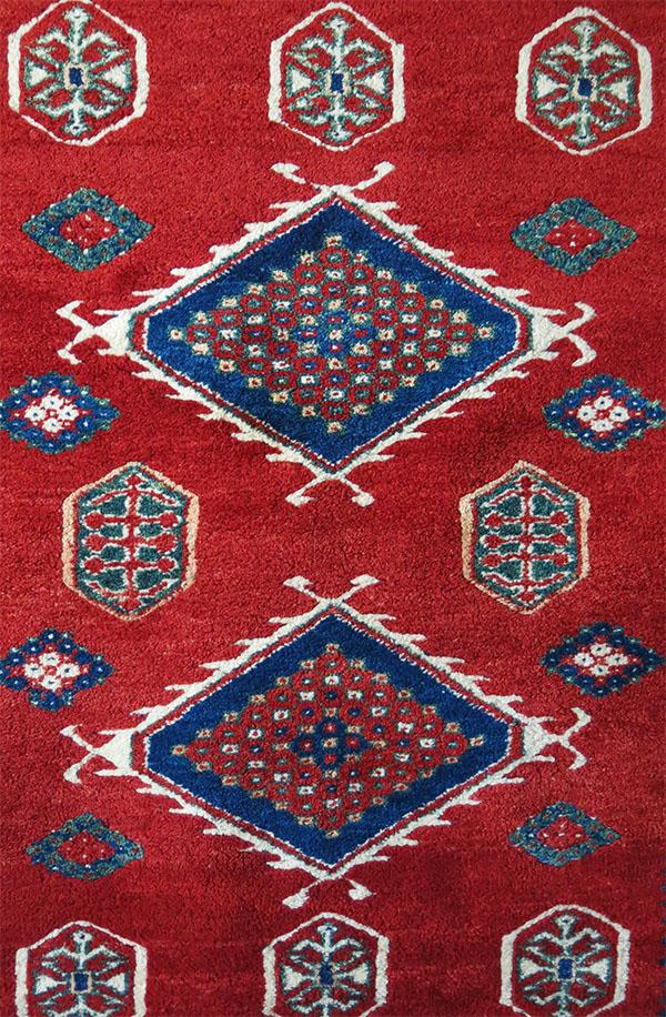 ANATOLIAN - ASIA MINOR - All wool natural colors Caucasian design rug