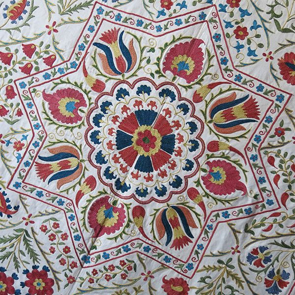UZBEKISTAN - FARGANA VALLEY - Ethnic silk embroidery suzani