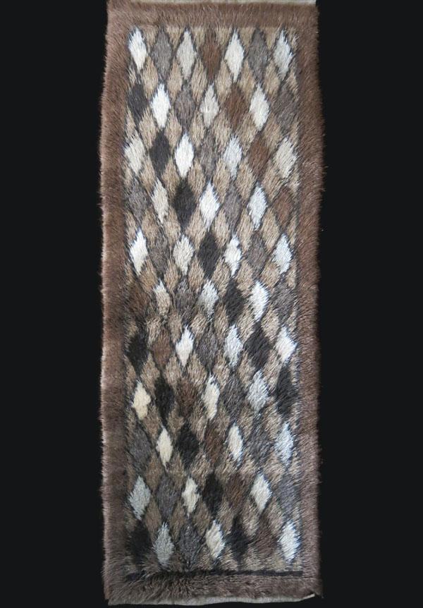 ANATOLIAN - KARAPINAR Tulu rug with mixture of Angora wool