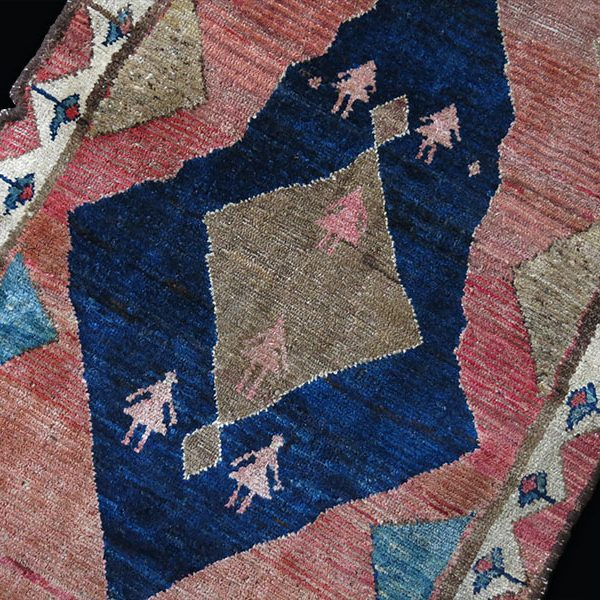 PERSIA - BAKTIARI GABBEH Southwest, antique tribal small rug