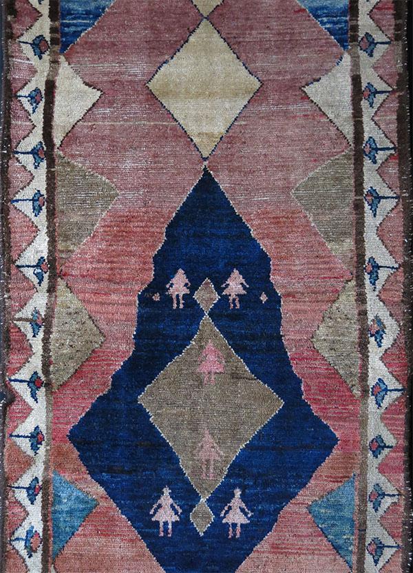 PERSIA - BAKTIARI GABBEH Southwest, antique tribal small rug
