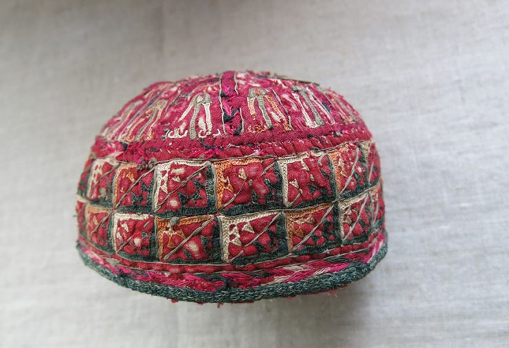 AFGHANISTAN - TURKMEN TEKKE tribal child hat