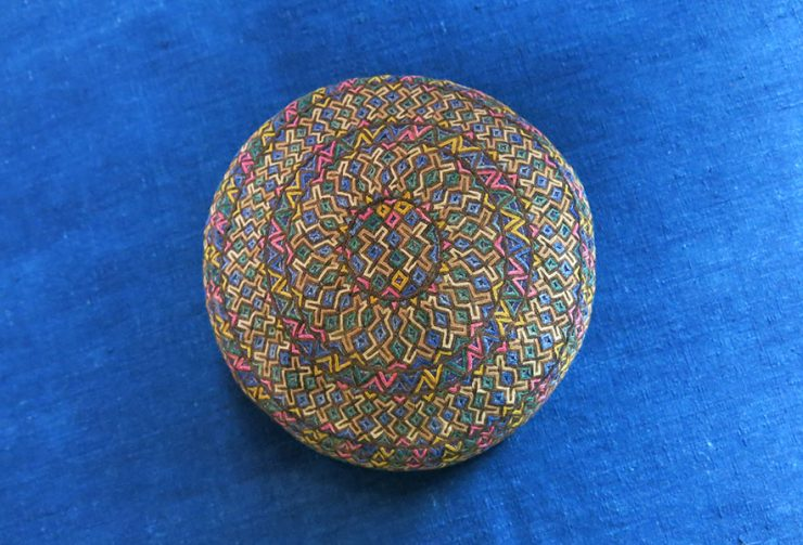 TURKMENISTAN - YOMUD tribal silk embroidered hat
