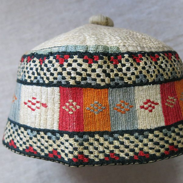 NORTH AFRICAN - Egyptian Silk embroidered ethnic hat