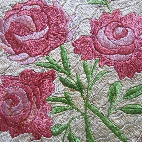 Hungarian silk satin stitch embroidered mini table decoration