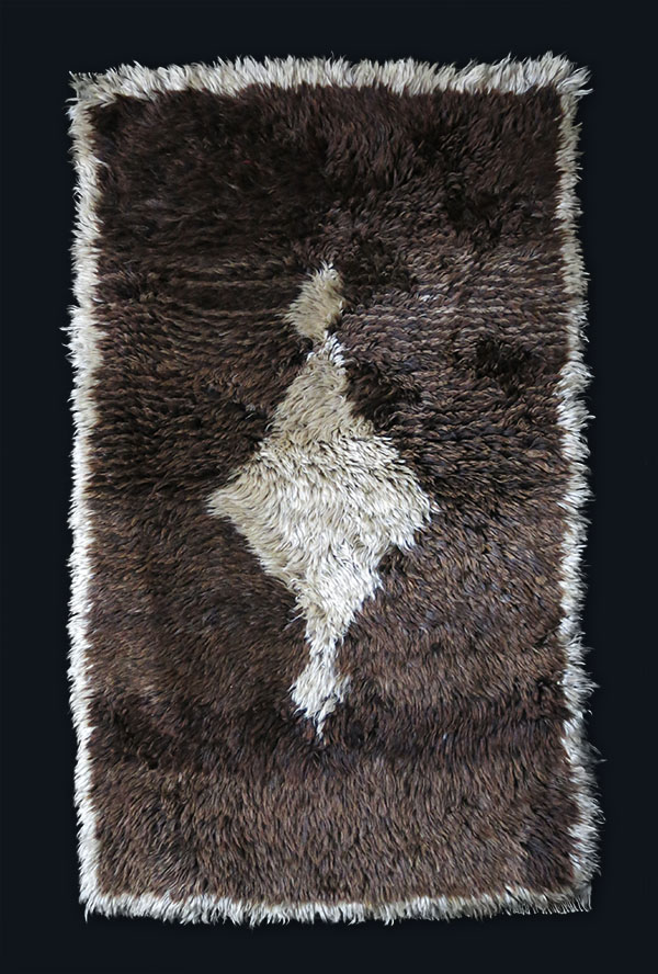ANATOLIA – KONYA – Karapinar wool and angora mixture rug