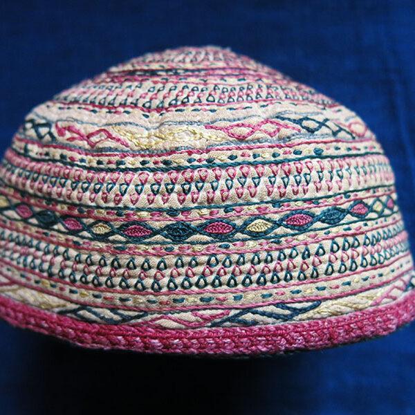 TURKMENISTAN – TEKKE ethnic silk embroidered child hat