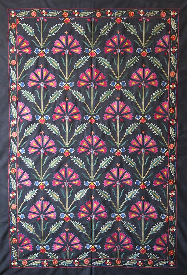 UZBEKISTAN FARGANA Valley ethnic silk embroidered Suzani