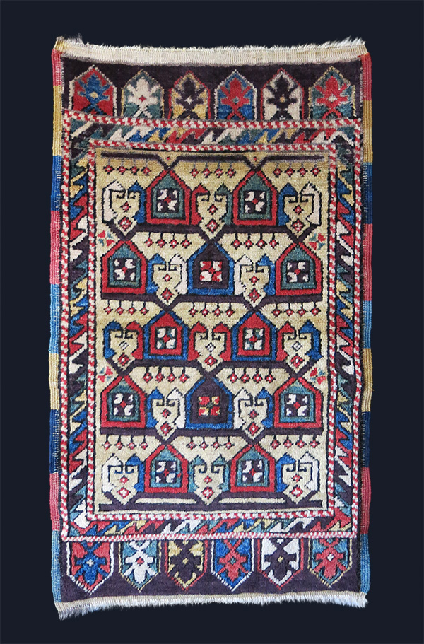 ANATOLIAN – KONYA all wool with natural dyes small rug / yastik