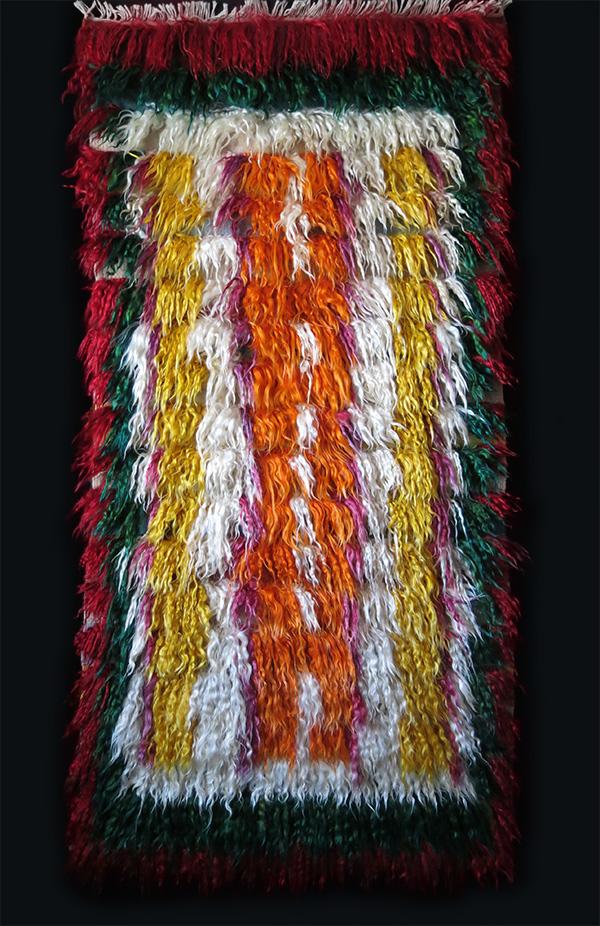 ANATOLIAN KONYA Karaman tribal nomad angora tulu/shaggy rug