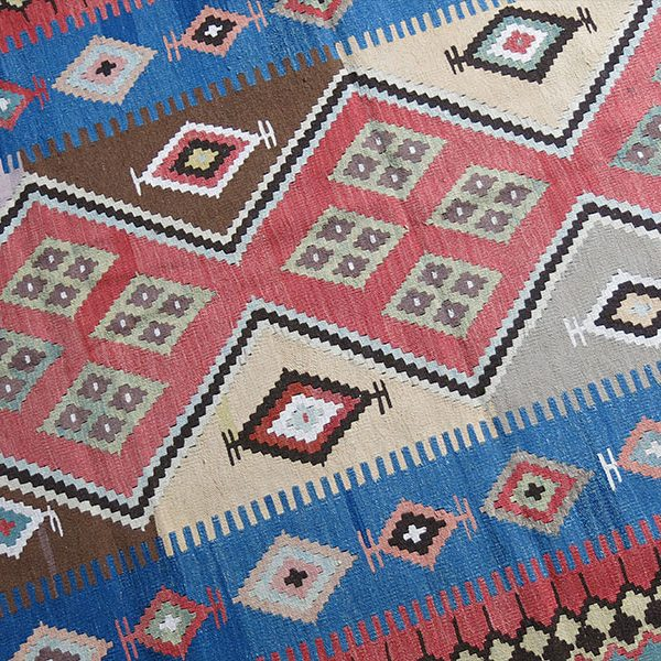 SOUTH PERSIA QASHKAI tribal wool kilim