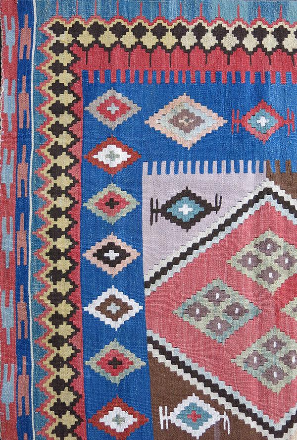 SOUTH PERSIA QASHKAI tribal wool kilim