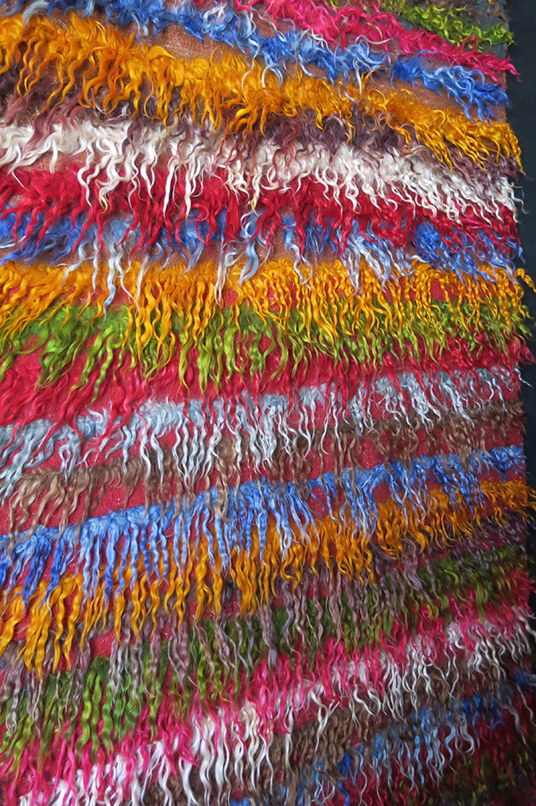 ANATOLIAN KONYA tribal angora tulu/shaggy rug – kilim