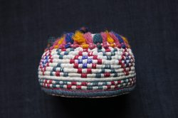 turkmenistan-probably-tekke-tribe-two-similar-silk-embroidered-ethnic-child-hats