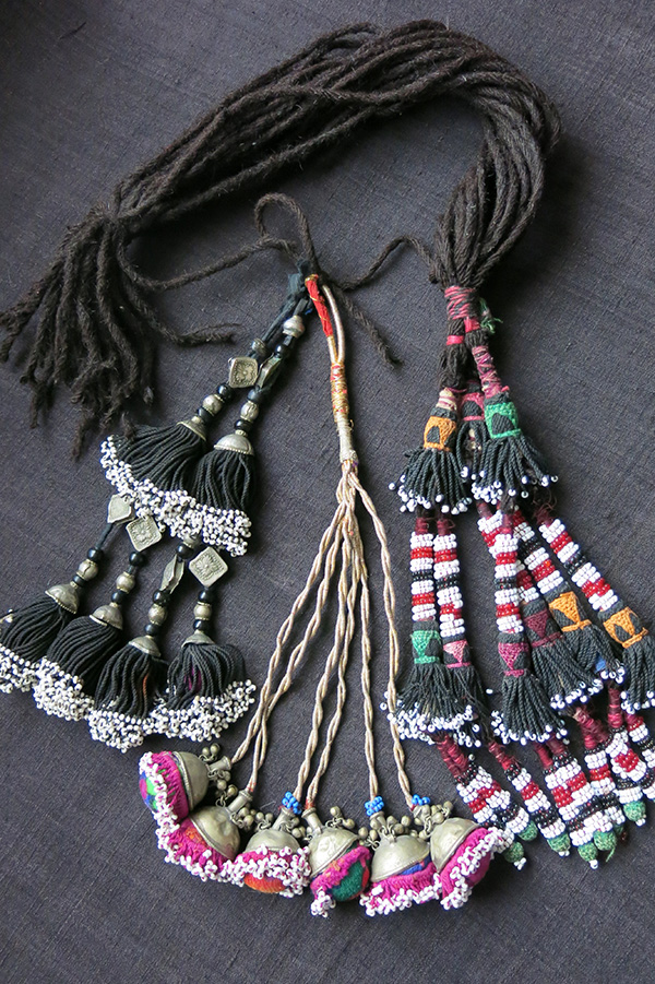 AFGHANISTAN - UZBEK ethnic decorative mix tassels