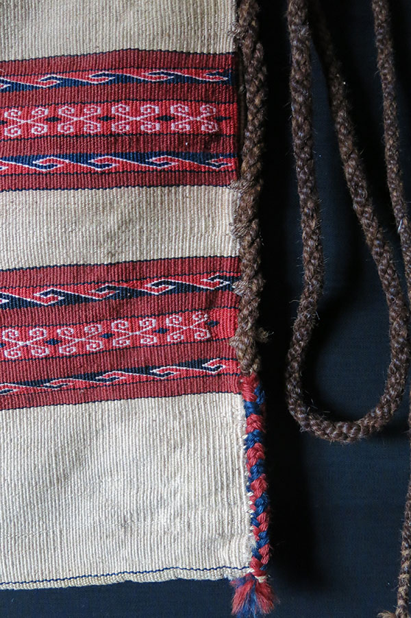 IRAN TURKMENSAHRA - Yomud – Goklan tribal all wool utility bag