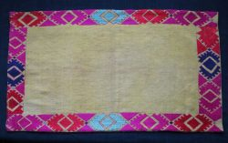 North PAKISTAN – Kohistan - Swat Valley, silk floss embroidered bolster cover