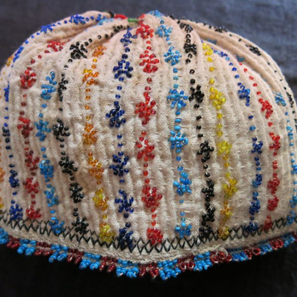 ANATOLIA – TURKEY KUTAHYA tribal beaded embroidery ceremonial hat