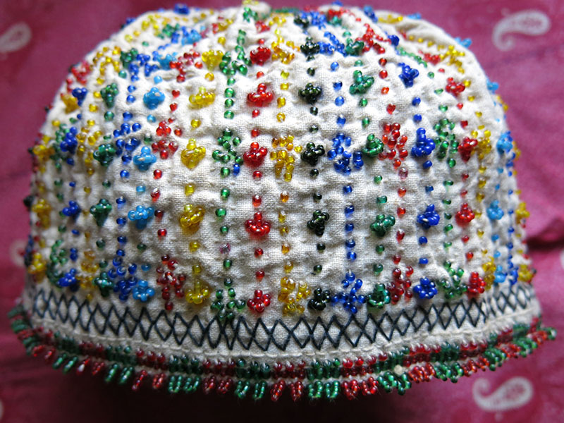 Anatolia Turkey Kutahya Tribal Beaded Embroidery Ceremonial Hat