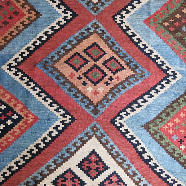 PERSIA QASHKAI tribal all wool antique kilim