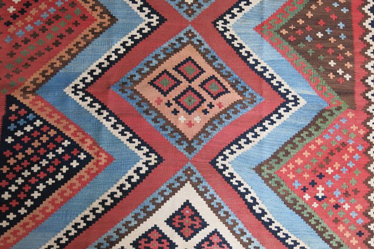PERSIA QASHKAI tribal all wool antique kilim