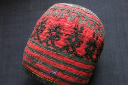 CENTRAL ASIA TURKMENISTAN tribal ceremonial hat - possibly Ersary