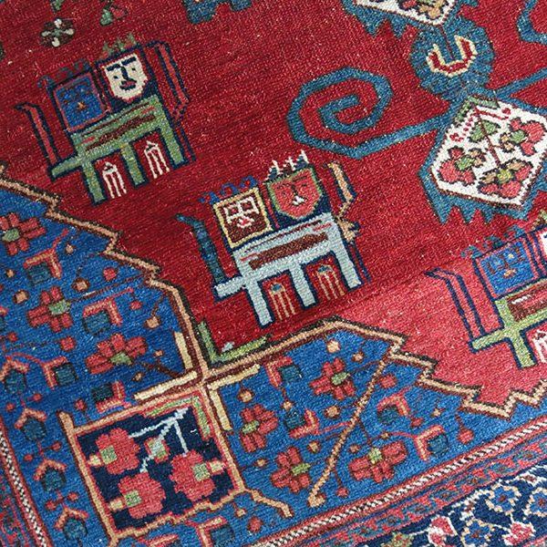 IRAN - AFSHAR tribal small wall hanging rug