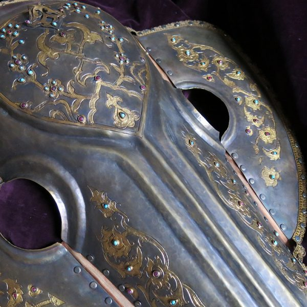 ANATOLIA – Istanbul OTTOMAN metal HORSE WAR HELMET / Mask