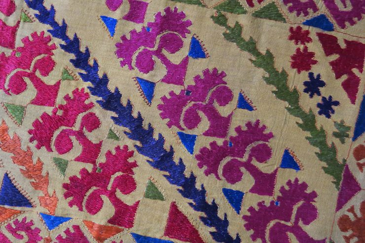 North PAKISTAN – Swat Valley tribal embroidered pillow cover