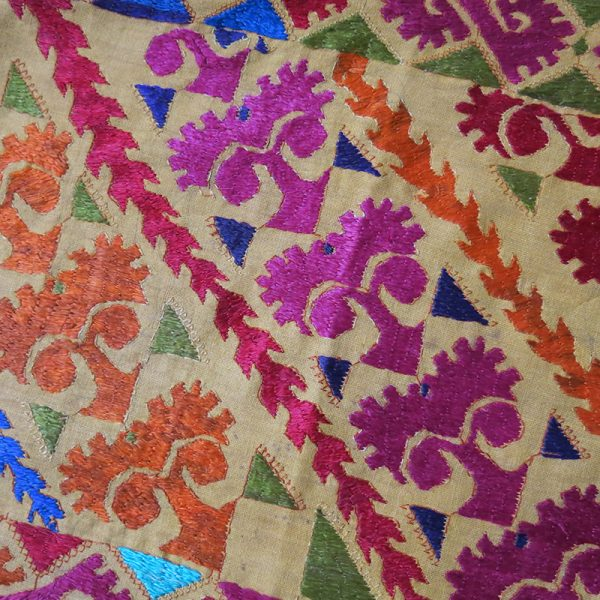 North PAKISTAN – Swat Valley tribal embroidered pillow