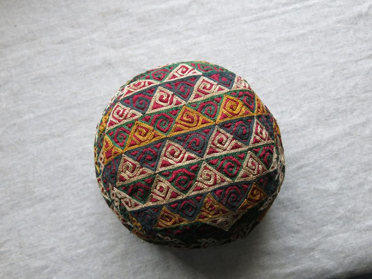 TURKMENISTAN - CHODOR tribal ceremonial silk embroidery hat