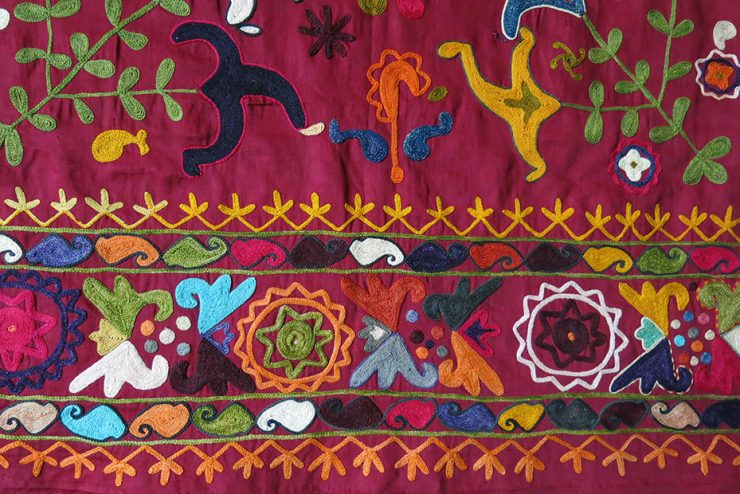 TAJIKISTAN LAKAI silk embroidered wrapping bokhcha for valuables