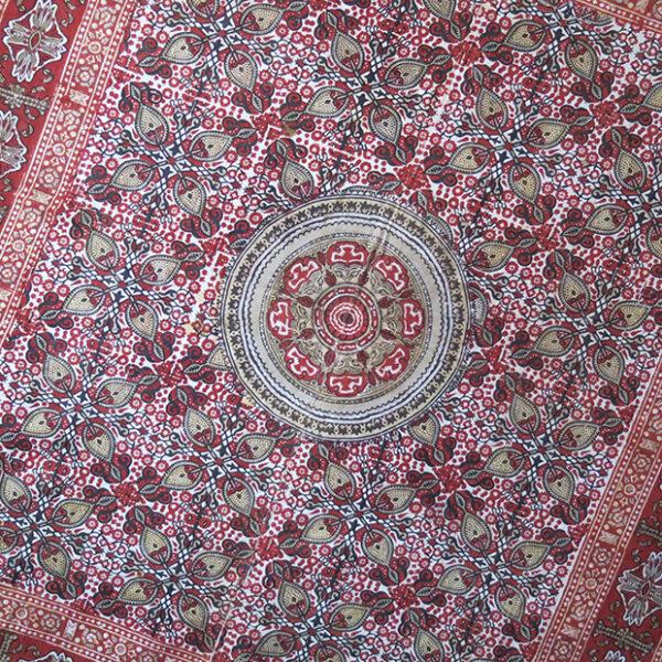 UZBEKISTAN - TASHKENT - FARGANA natural dye wood Printed cotton textile
