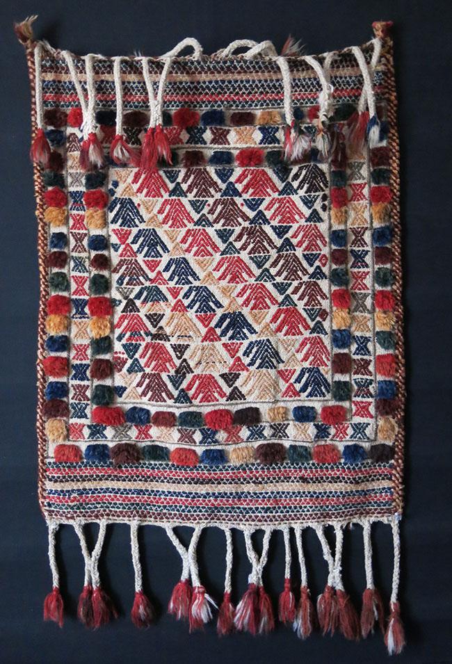 SOUTH PERSIA - QASHKAI tribe ethnographic flat woven and pile small kilim