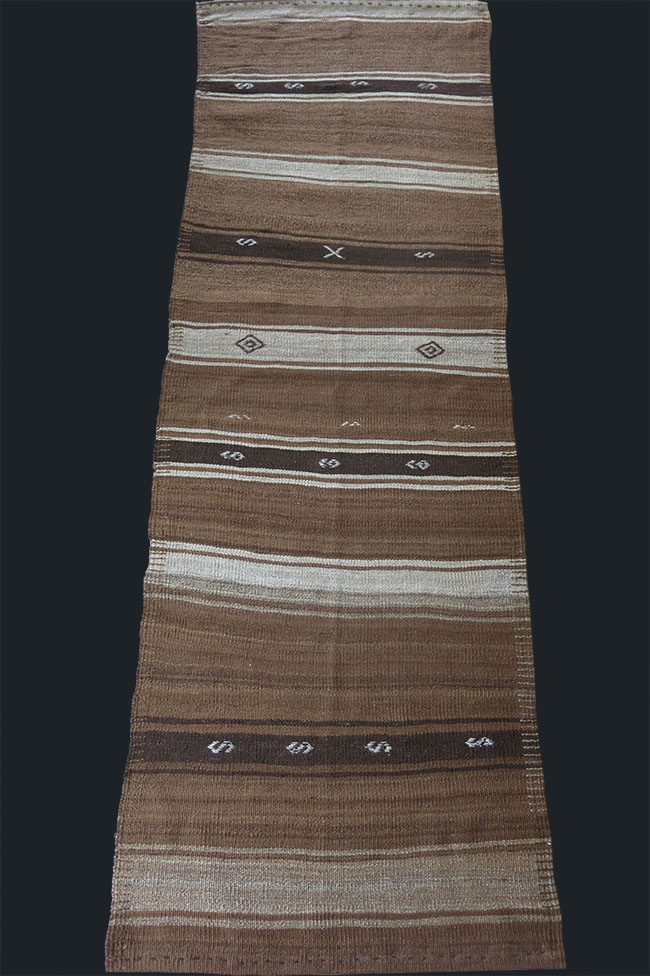 ANATOLIA - Eastern Turkey Lake Van Kurdish all natural undyed wool kilim