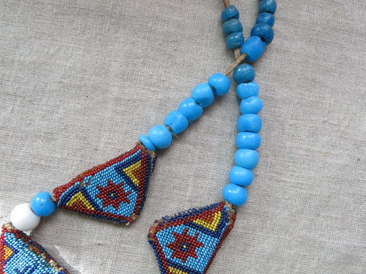 ANATOLIAN Antique both side glass beaded horse trapping