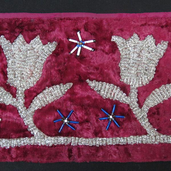 KAZAKHSTAN – Transparent glass bead embroidery on velvet