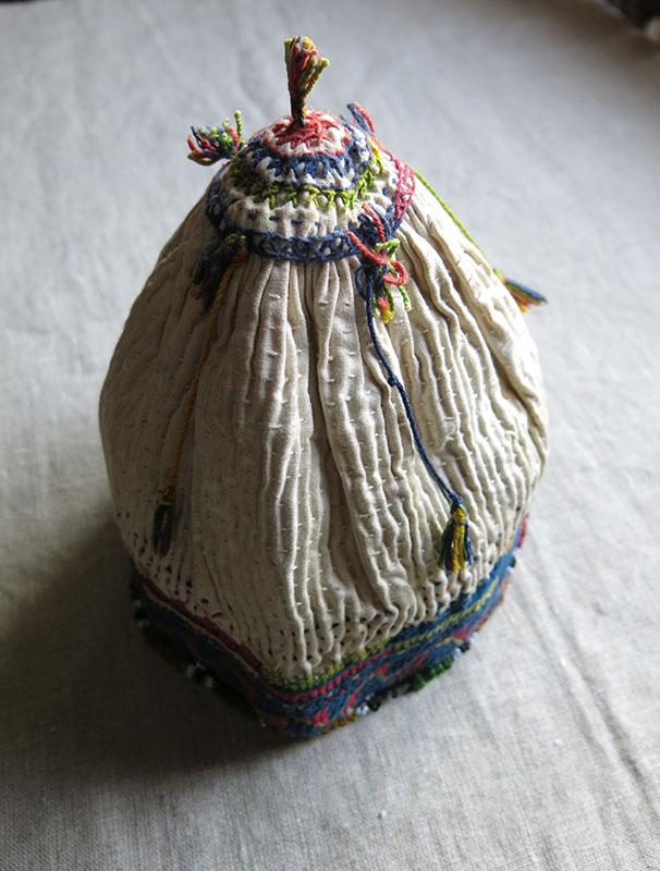 ANATOLIAN BALIKESIR Turkmen tribal ceremonial antique hat
