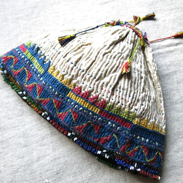 ANATOLIAN BALIKESIR Turkmen tribal ceremonial antique hat