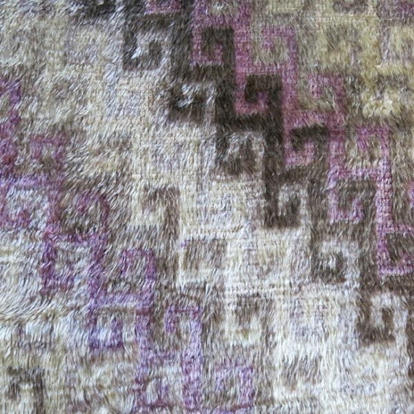 ANATOLIA – KONYA KARAPINAR tribal silky soft wool-angora mixture woven rug