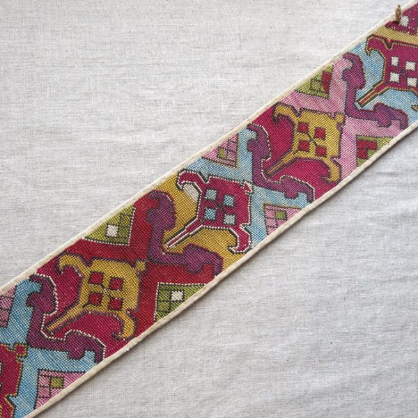 UZBEKISTAN - SHAHRISABZ LAKAI silk embroidered woman's ceremonial belt