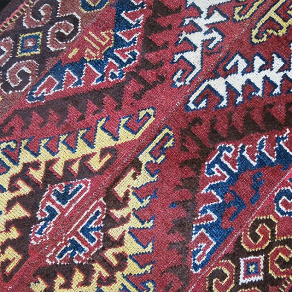 CENTRAL ASIA – AMU DARYA river tribal 4 panel woven rug
