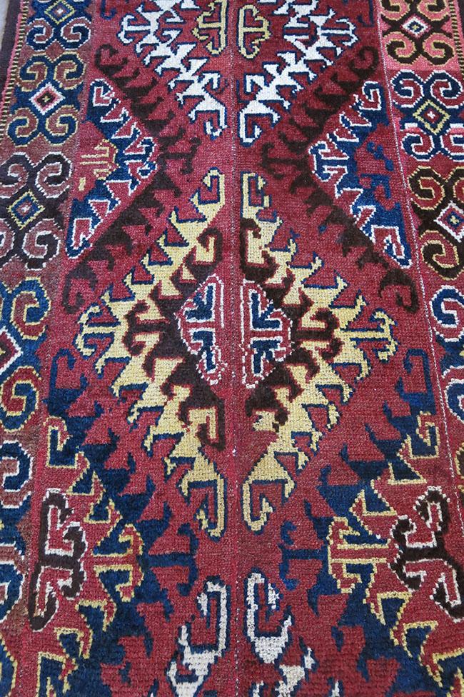 CENTRAL ASIA – AMU DARYA river tribal 4 panel woven rug