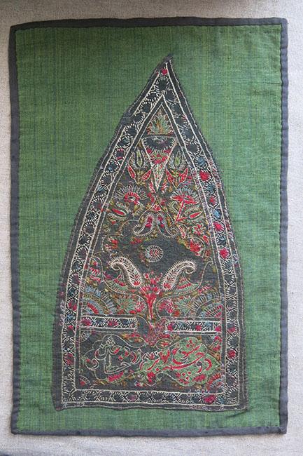 KASHMIR - Dervish wool embroidered hat panel