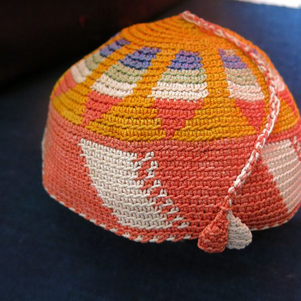 SYRIA – LEBANON KURDISH tribal hand knitted silk hat