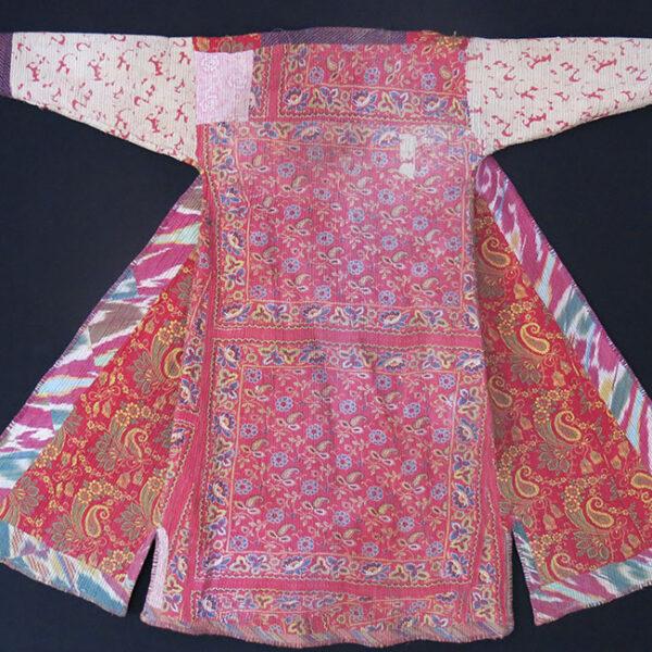 UZBEKISTAN KHORAZM - KHIVA Silk ikat Chapan